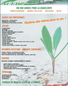 100 000 arbres pour la Guadeloupe, (Trois-Rivières, 12 07 2020)